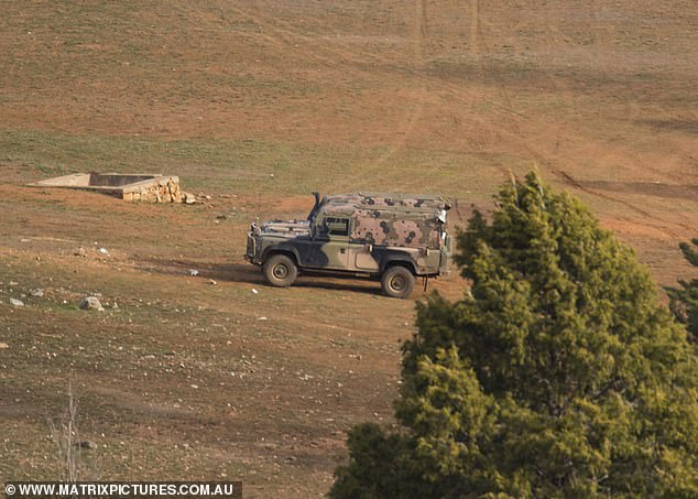 Keeping it real: Military vehicles were spotted at the camp, proving just how authentic the SAS Australia experience is