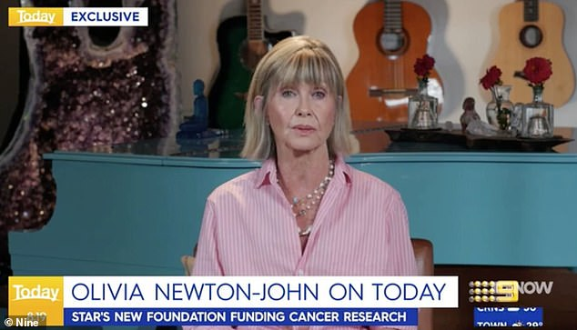 Health update:Speaking on Channel Nine's Today Show in Australia earlier this month, she said: 'I feel great and I'm so grateful I'm able to be in the countryside'
