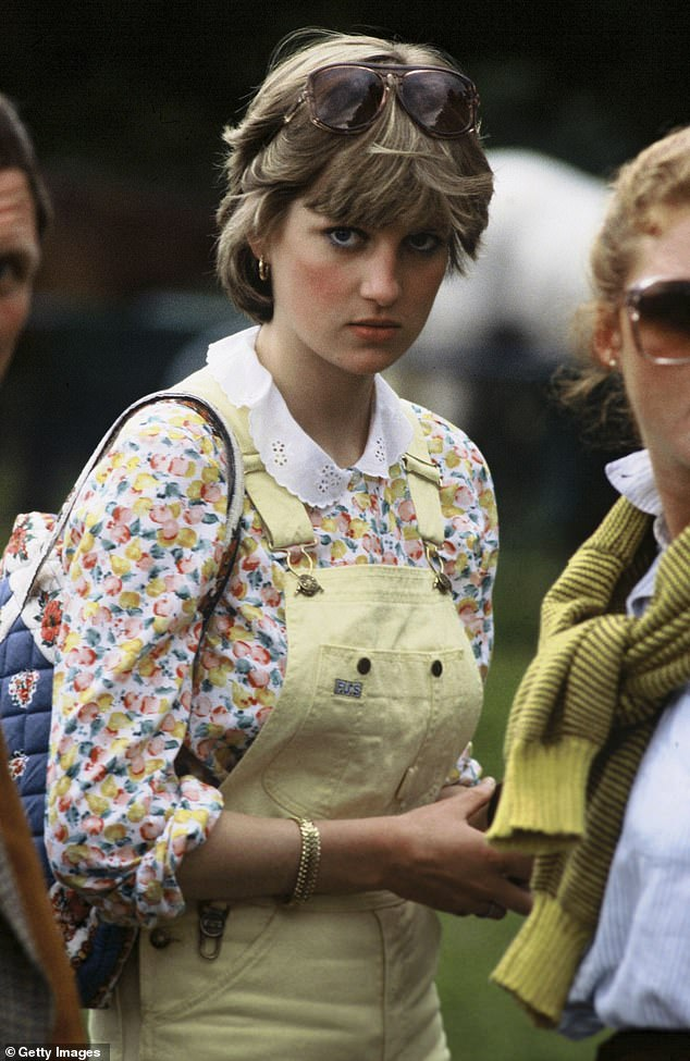 The real Diana wore a similar outfit, complete with dungarees, at a polo match at Windsor in 1981