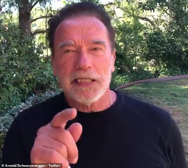 Unhappy: Arnold Schwarzenegger expressed dismay Wednesday at the turnout in Los Angeles National Cemetery where veterans and certain eligible family members are buried