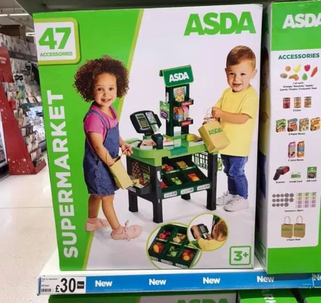 Picture: Extreme Couponing and Bargains UK group Asda is selling mini trolleys for kids