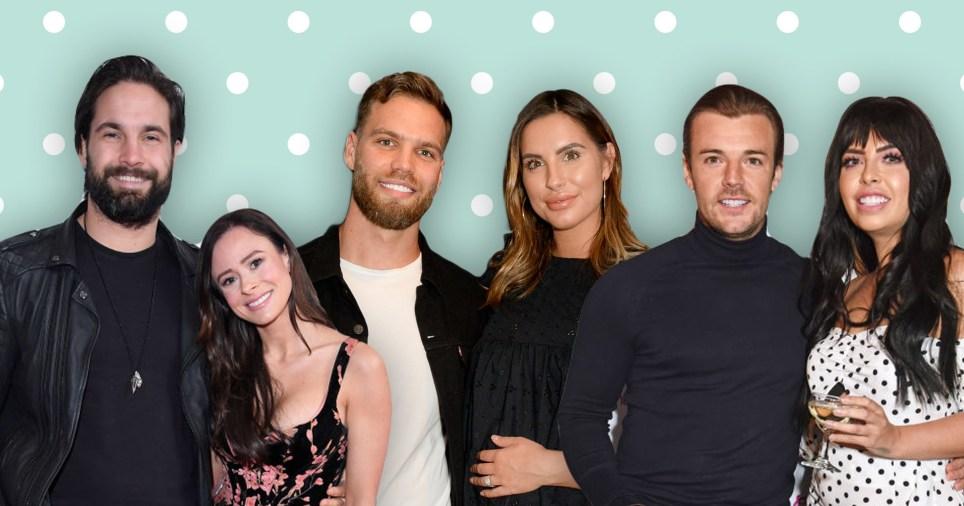 Love Island stars Jamie Jewitt, Camilla Thurlow, Dom Lever, Jess Shears, Nathan Massey and Cara Delahoyde