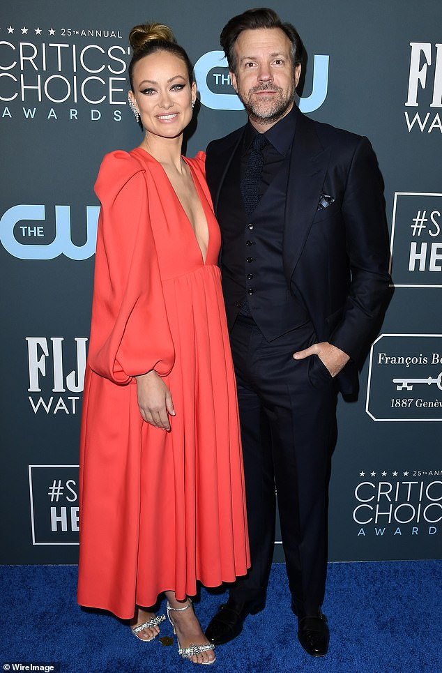 Calling it quits: Olivia Wilde and Jason Sudeikis have quietly broken off their engagement, after seven years (pictured in January, 2020)