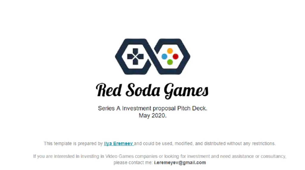 """The """"perfect funding pitch deck"""" for game entrepreneurs."""
