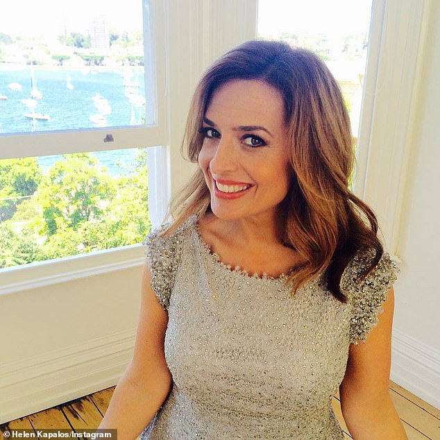 Open: TV presenter Helen Kapalos (pictured) has given a scathing account of her experiences as a TV journalist.The 49-year-old went rogue while speaking to The Herald Sun's Sacked: Showbiz podcast, opening up on subjects from being asked to change her surname, the 'crippling' effect of being judged on her looks and accruing $80,000 debt