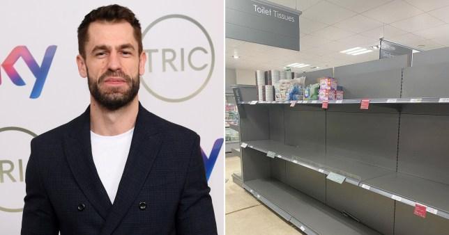 Kelvin Fletcher fumes over panic buying