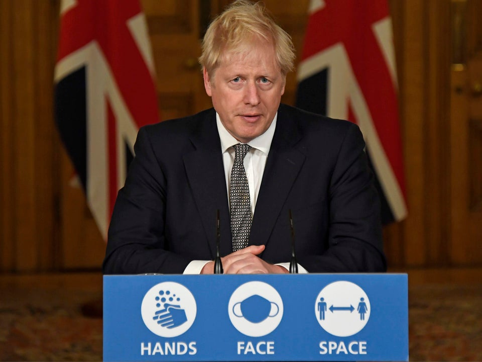 <p>Boris Johnson addressed the nation from Downing Street on Halloween</p>