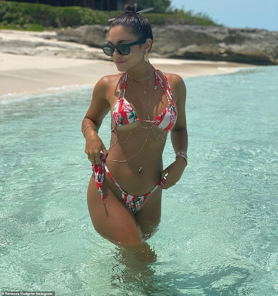Dreamy days of yore: Actress Vanessa Hudgens is not enjoying the stress of 2020 so she posted bikini images from a more carefree time in her life