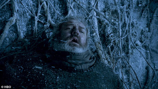 Shocking deaths, like Rob Stark and Hodor (pictured), may have left readers gasping, but the study notes such characters died in a way that is consistent with regular human activities. And they only appear to be random and surprising throughout the book because that is how Martin intended them to be