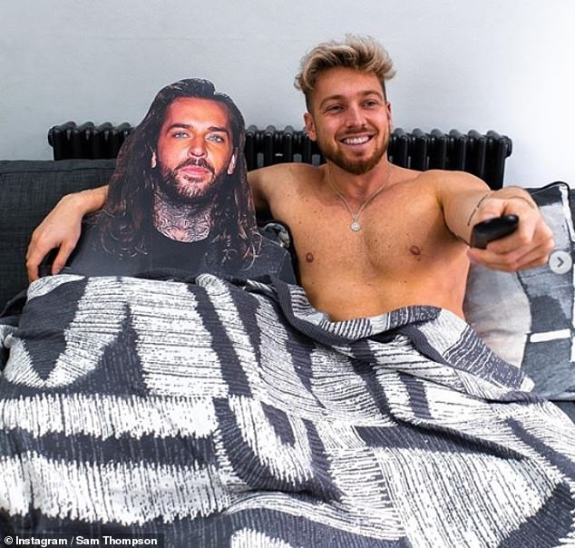 I'm fine! Meanwhile Sam took to Instagram to pine for his pal Pete Wicks as the pair are kept apart during the COVID-19 lockdown