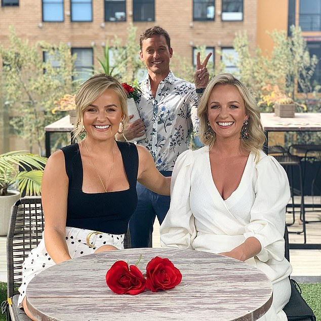 Meanwhile, Becky, 30, admitted she had really recently set her sights set on Studio 10 host Tristan MacManus (centre). Pictured during their interview