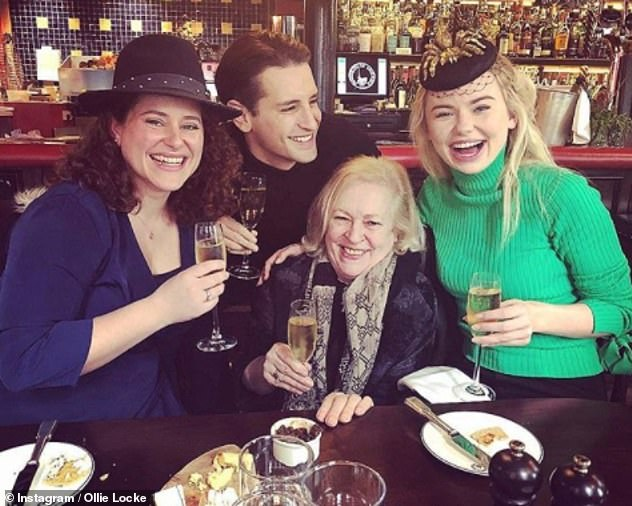 'It breaks my heart': Earlier this year, Ollie lamented the fact his own mother (pictured centre) would have to wear a face mask at his nuptials amid the coronavirus pandemic