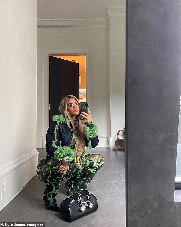 Making them green with envy:On top of her beauty products, the makeup mogul has been updating fans on all her fashionable looks