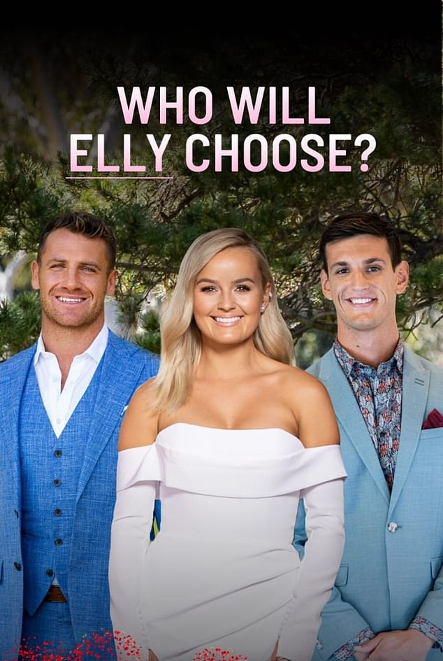 Over already? The decision not to mention either of their winning suitors comes amid rumours that both women are single, just eight weeks after filming wrapped on the dating show.Elly pictured with her frontrunners Frazer Neate (left) and Joe Woodbury (right)