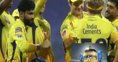 चेन्नई सुपर किंग ने पाँच विकेट से जीता पहला मैच।