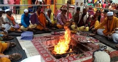गंगोलीहाट विश्व प्रसिद्ध शक्तिपीठ महाकाली मंदिर में 10 दिन तक आयोजित श्रीमद् देवी भागवत के पारायण।