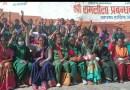 भोजन माता संगठन ने रामलीला मैदान में सरकार के खिलाफ नारेबाजी करते हुए भोजन माताओं की अनदेखी का आरोप लगाया।