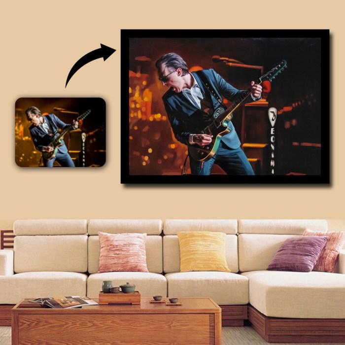 man with guitar portrait