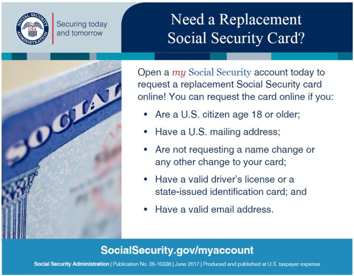 Replace your social Security Card in counties within NJ