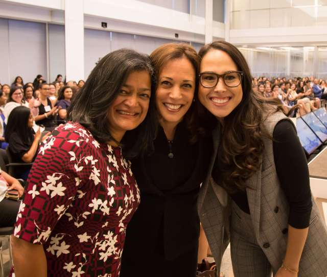 Kamala Harris D California And Mina Harris Founder Of Phenomenal Women Action Campaign At The Oct 2 Women Who Impact Conference Held In Washington