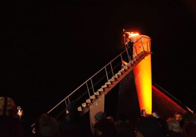 olympic torch re lit but not ol spirits