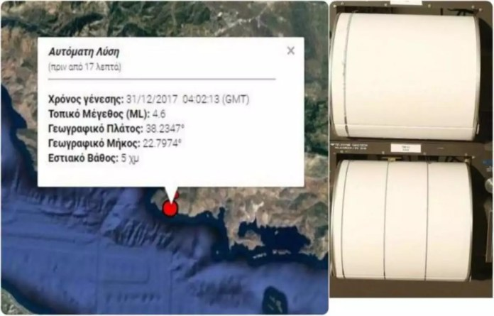 σεισμός στον Κορινθιακό