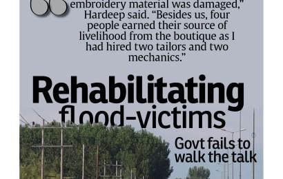 Rehabilitating flood-victims-Govt fails to walk the talk