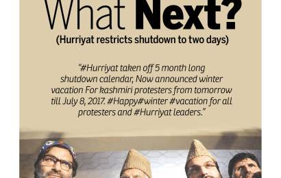 What Next? (Hurriyat restricts shutdown to two days)