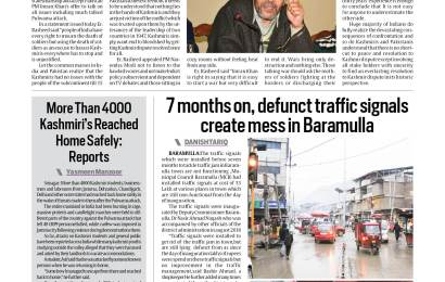Defunct traffic lights create mess in Baramulla