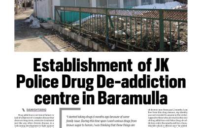 Establishment  of JK Police Drug De-addiction centre in Baramulla