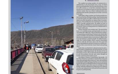 Baramulla town lacks parking space, commuters suffer