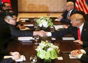 अमेरिकी राष्ट्रपति और किम जोंग के साथ ऐतिहासिक बैठक, ट्रंप बोले- अच्छी रही बातचीत