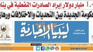 العدد (625) من صحيفة ليبيا الإخبارية