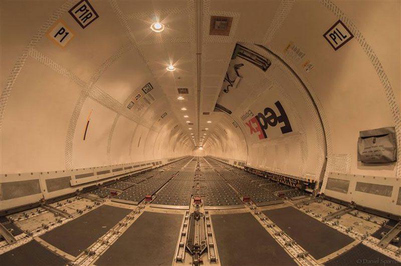 empty cargo plane