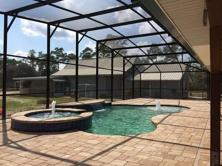 pool or patio screen enclosure installation