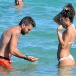 Raffaella Fico e Gianluca Tozzi in vacanza a St Tropez