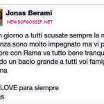 Jonas Berami e Rama Lila Giustini ancora fidanzati?