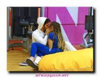 Virginia Tomarchio e Cristian lo Presti si baciano