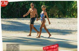 Alessia Marcuzzi in hot topless alle Maldive