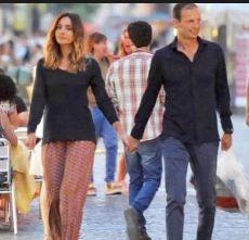 La soubrette Ambra Angiolini a passeggio con Max Allegri allenatore della Juventus