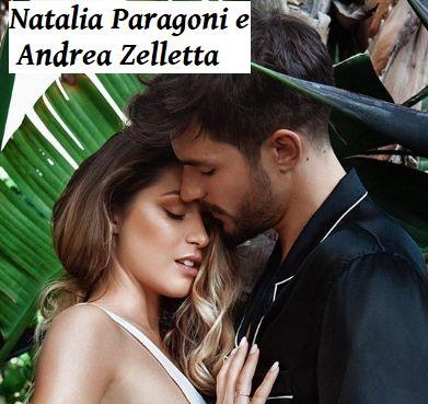 foto di Andrea Zelletta e Natalia Paragoni innamorati