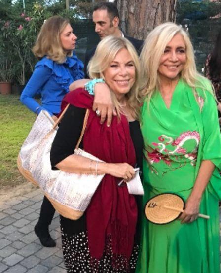 Foto di Rita dalla Chiesa con l'amica Mara Venier