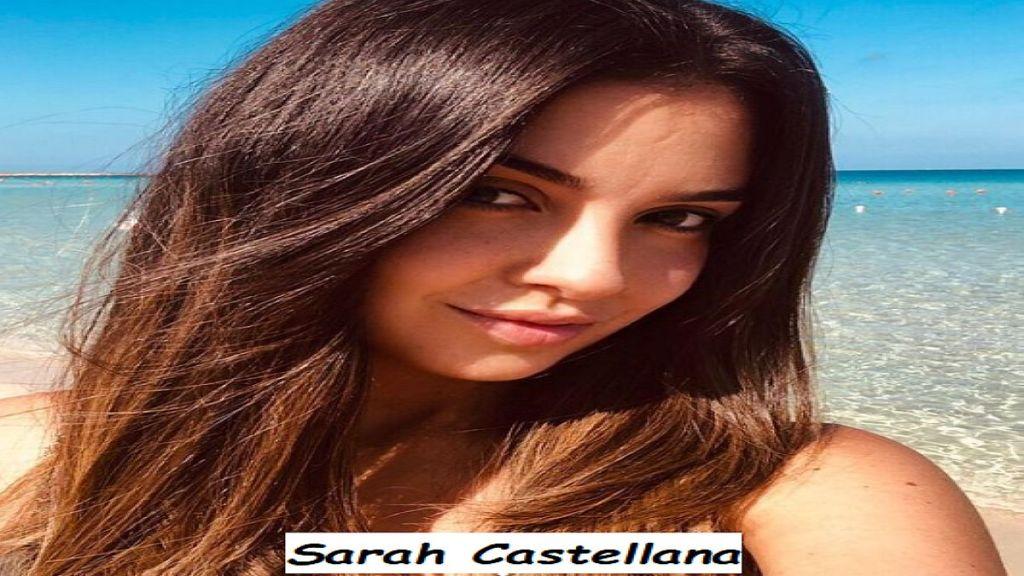 Primo piano di Sarah Castellana giornalista sportiva