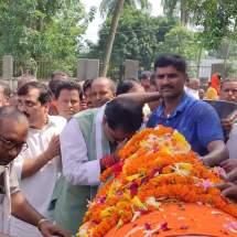 डॉ. जगन्नाथ मिश्रा अमर रहे के नारे से गूंजता रहा मुजफ्फरपुर-दरभंगा एनएच 57। न्यूज़ ऑफ मिथिला