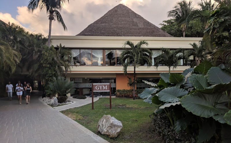 gym at all inclusive resort in Tulum Mexico