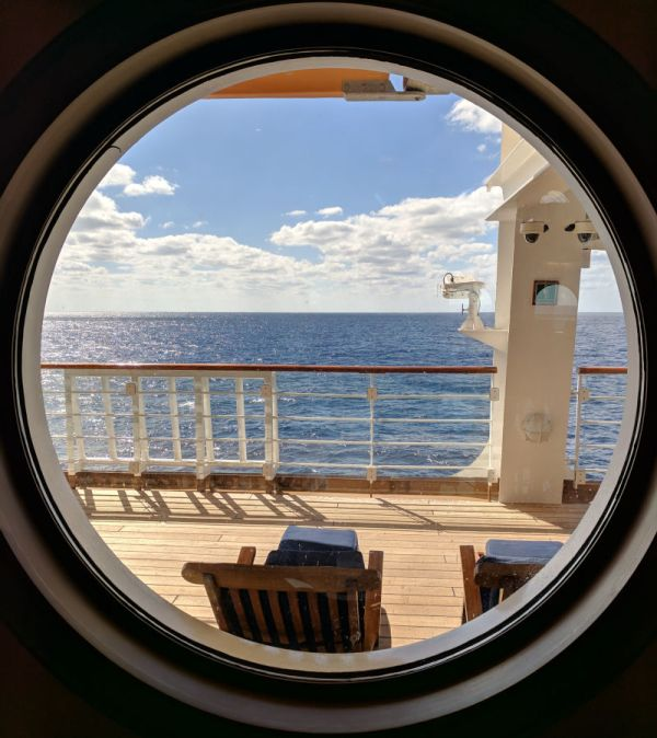 Disney cruise ship port hole