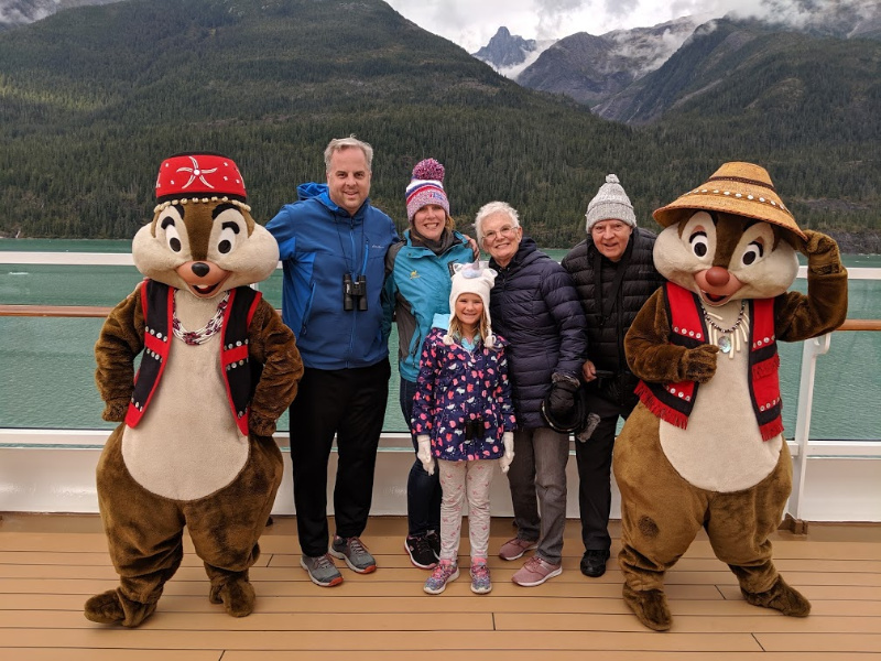 Disney Alaska Cruise family photo