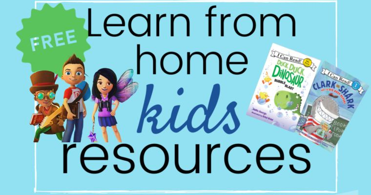 Big List of Home Learning Resources for Kids – Free or Awesome Deals!