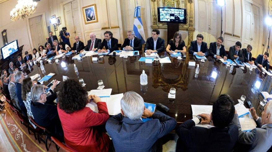 The Government, meeting in plenary session to take measures. (Photo: EFE).