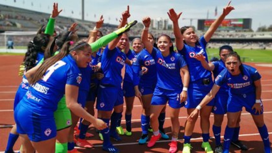 Cruz Azul is the team with the most confirmed infections, both in the men's and women's branches (Photo: Twitter / @AzulFemenil)